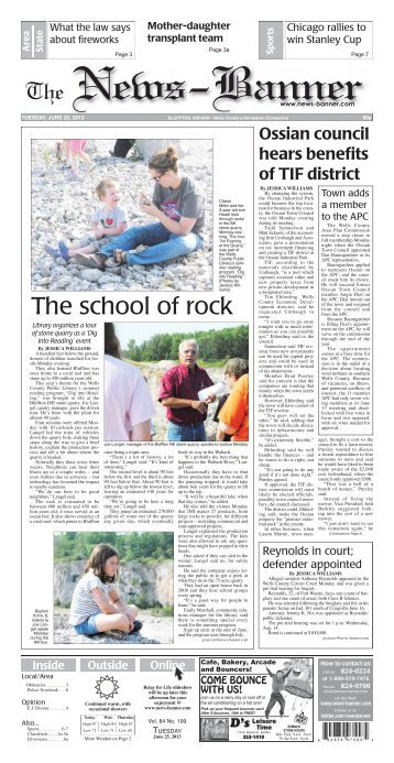 The school of rock - Bluffton News Banner