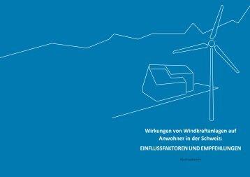 Wirkungen von Windkraftanlagen auf Anwohner in der ... - admin.ch