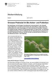 Grosses Potenzial im Bio-Acker- und Futterbau - admin.ch