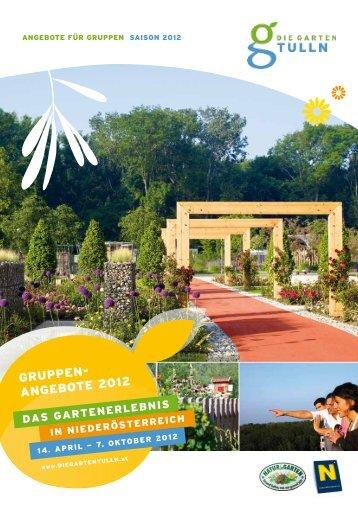 GRUPPEN- ANGEBOTE 2012 - Die Garten Tulln