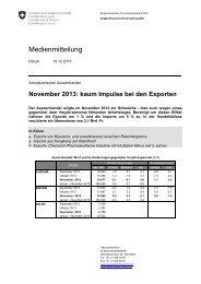 November 2013: kaum Impulse bei den Exporten - admin.ch