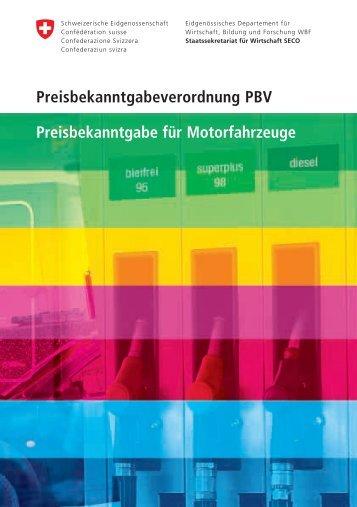 Preisbekanntgabe für Motorfahrzeuge - admin.ch