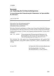 13.059 Botschaft zur Änderung des Gewässerschutzgesetzes