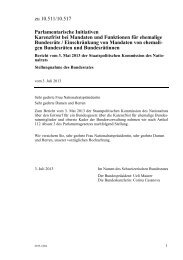 Stellungnahme des Bundesrates - admin.ch