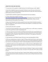 COMPETITION TERMS AND CONDITIONS 1. The promoter ... - Philips