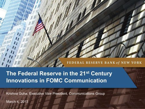 Presentation slides - Federal Reserve Bank of New York