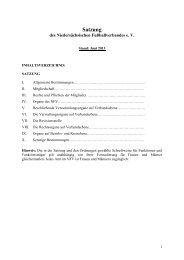 Satzung (Stand: 06-2013) - NfV