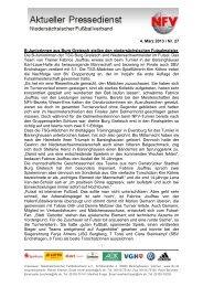 4. März 2013 / Nr. 27 B-Juniorinnen aus Burg Gretesch stellen ... - NFV