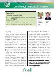 Lehrbrief für Fußball-Schiedsrichter - NFV