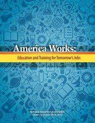 Education and Training for Tomorrow's Jobs - National Governors ...