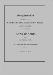 GRAN CANARIA - Naturforschende Gesellschaft in Zürich NGZH