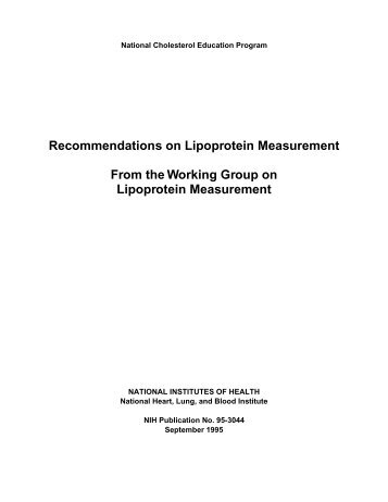 Recommendations on Lipoprotein Measurement - National Heart ...