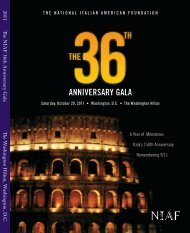 ANNIVERSARY GALA - National Italian American Foundation