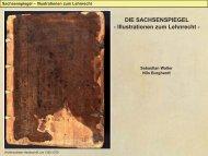 DIE SACHSENSPIEGEL - Illustrationen zum Lehnrecht - - Nibuki.de