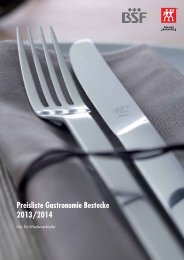 Preisliste Gastronomie Bestecke 2013/2014 - Nicolai GmbH