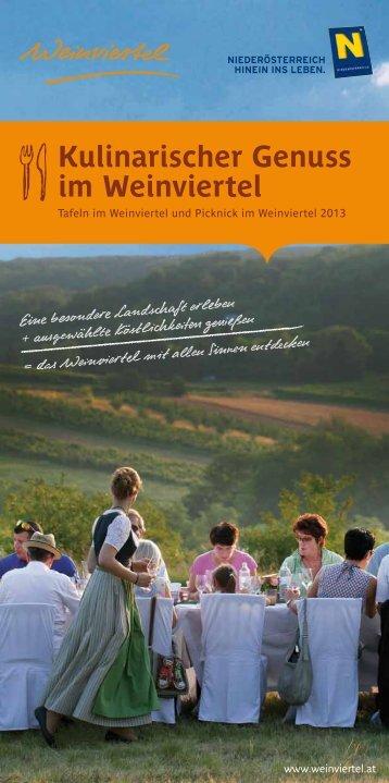 Kulinarischer Genuss im Weinviertel - Niederösterreich