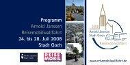 Arnold Janssen Reisemobilwallfahrt 24. bis 28. Juli 2008 Stadt Goch ...