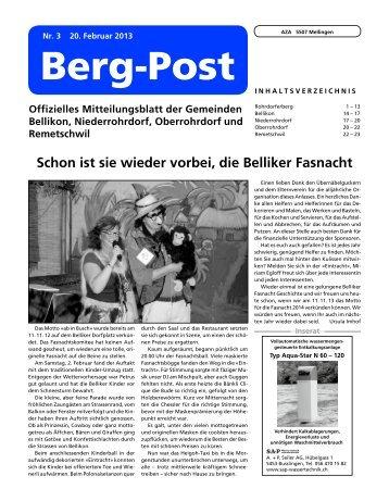 Ausgabe vom 20.02.2013 - Gemeinde Niederrohrdorf
