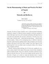 Music, The Birth of Tragedy, and Nietzche's ... - Nietzsche Circle