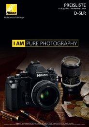 PREISLISTE D-SLR - Nikon