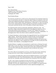 May 4, 2009 Hon. Barack Obama President of the United States of ...