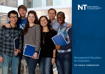 Management Education for Engineers - NIT Northern Institute of ...