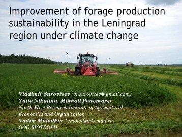Improvement of forage production sustainability in the Leningrad ...