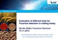 Evaluation of different tools for - NJF