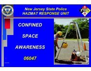 CONFINED SPACE AWARENESS 06047 - New Jersey State Police