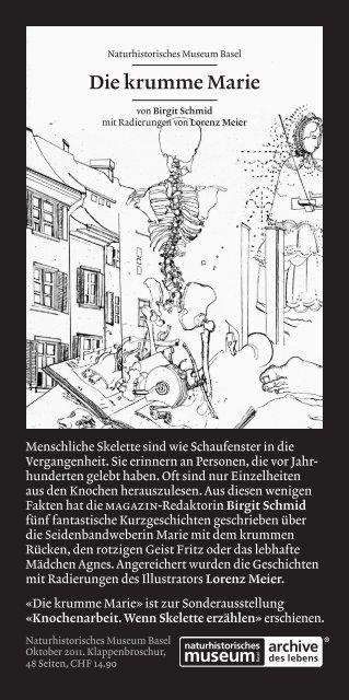 """Bestellkarte """"Die krumme Marie"""" - Naturhistorisches Museum"""