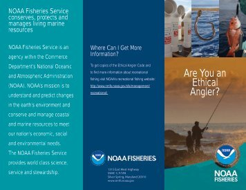 Ethical Angler Code of Conduct - NOAA Fisheries
