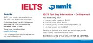 pdfNMIT IELTS How To Get Here Collingwood Brochure