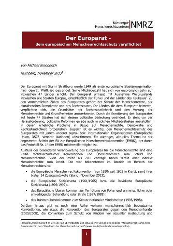 Der Europarat -