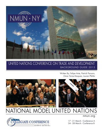 UNCTAD Background Guide - National Model United Nations