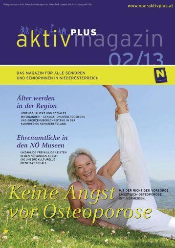 Älter werden in der Region Ehrenamtliche in den NÖ ... - Aktiv-Plus