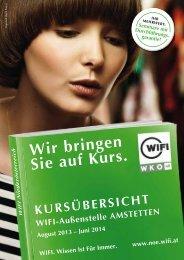 Ausgabe Amstetten 2013/14 - WIFI Niederösterreich