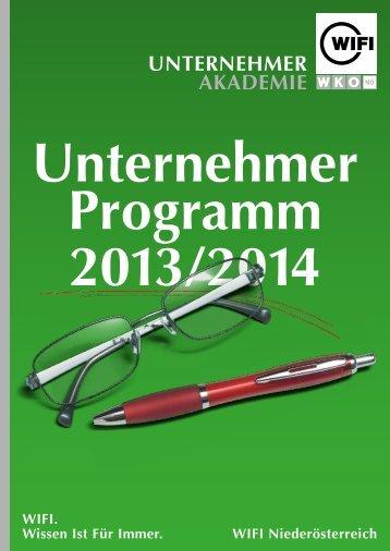 Unternehmer AkAdemIe - WIFI Niederösterreich