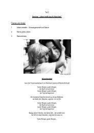 """Teil 2 Seminar """"Leben heißt (auch) Abschied"""" Themen und Inhalte ..."""