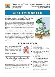 Gift im Garten / Gefährliche Stoffe - NÖ Zivilschutzverband