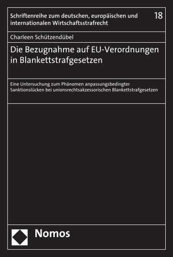 Die Bezugnahme auf EU-Verordnungen in ... - Nomos