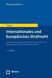 Internationales und Europäisches Strafrecht - Nomos Shop