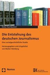 Die Entstehung des deutschen Journalismus - Nomos Shop