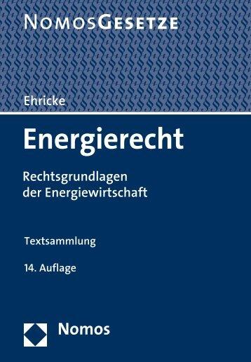 Energierecht Textsammlung - Nomos Shop