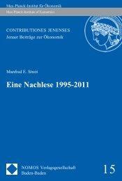 Eine Nachlese 1995-2011 - Nomos Shop
