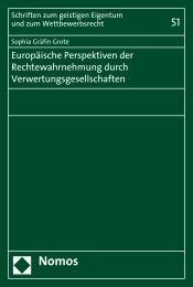 Europäische Perspektiven der Rechtewahrnehmung ... - Nomos Shop