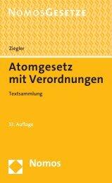 Atomgesetz - Nomos Verlagsgesellschaft
