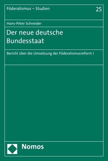 Der neue deutsche Bundesstaat - Nomos Verlagsgesellschaft