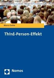 Third-Person-Effekt - Nomos Verlagsgesellschaft