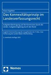 Das Konnexitätsprinzip im Landesverfassungsrecht - Nomos ...