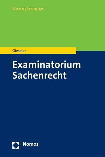 Examinatorium Sachenrecht - Nomos